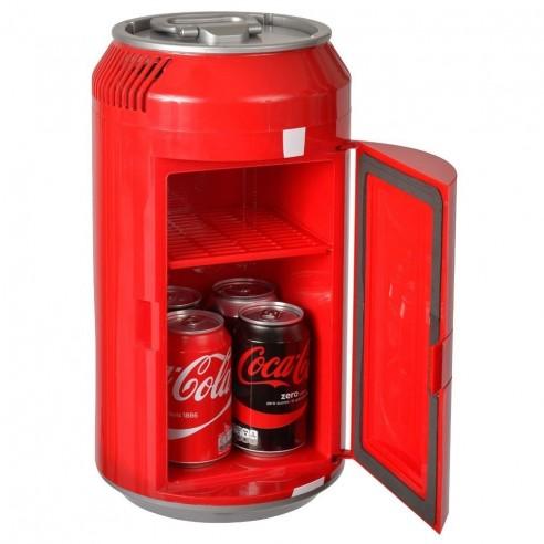 Nevera Retro 6 litros (8 latas) con forma Lata de Coca-Cola