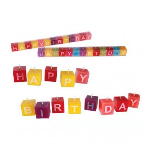 Velas Letras Cumpleaños Feliz