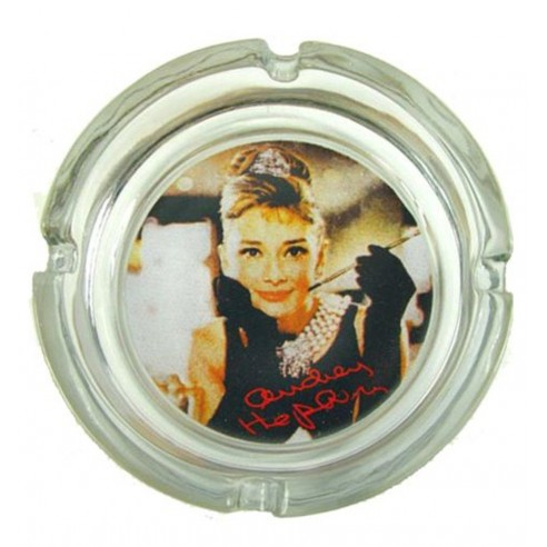 Cenicero Cristal Audrey Hepburn Fumando