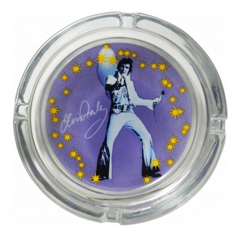 Cenicero Cristal Elvis Presley años 70
