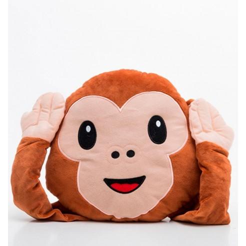 Cojín Peluche Emoticono Monkey