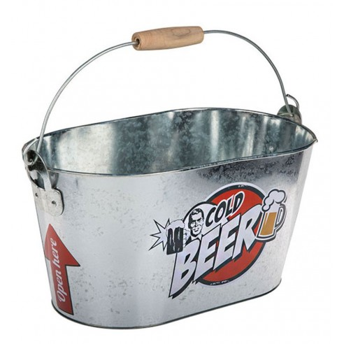Cubo Metal Ovalado Bebidas Frías