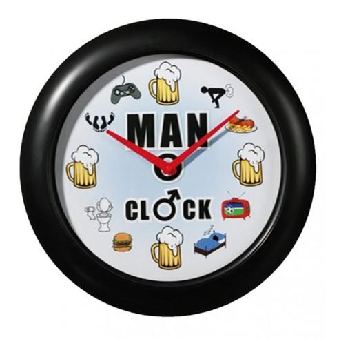 Reloj Pared Gustos de los Hombres con Sonido