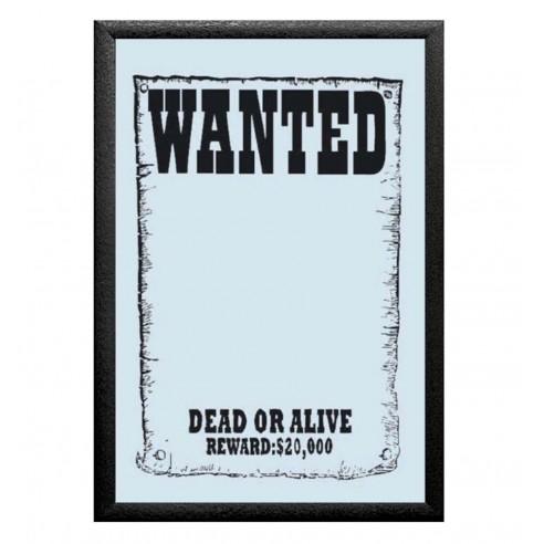 Cuadro Espejo Wanted - Se busca