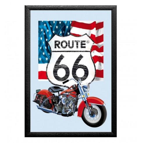 Cuadro Espejo Route 66 Harley-Davidson Bandera USA