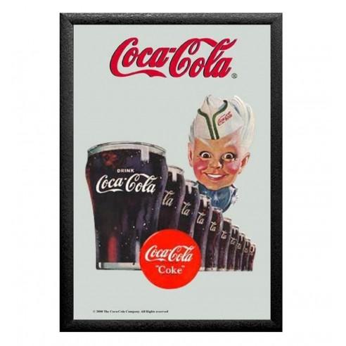 Cuadro Espejo Retro Coca Cola Niño