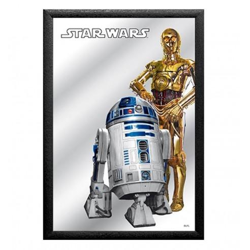 Cuadro Espejo Star Wars R2-D2 y C-3PO