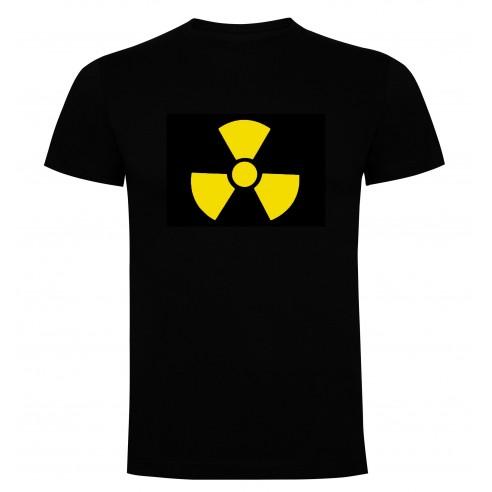 Camiseta LED Peligro Radiactivo