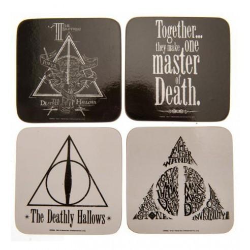 Set 4 Posavasos Harry Potter Deathly Hallows