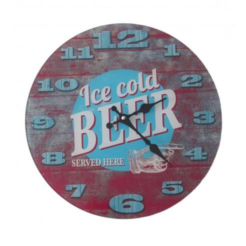Reloj de Pared de Vidrio Cold Beer