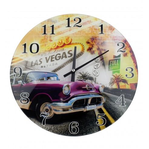 Reloj de pared de Vidrio Las Vegas II
