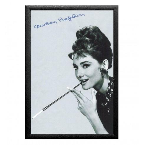 Cuadro Espejo Audrey Hepburn Fumando