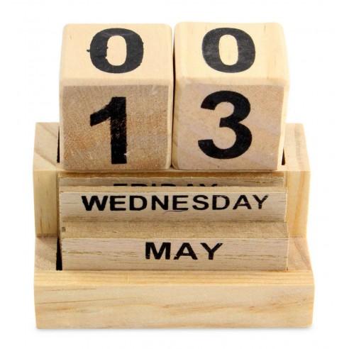 Calendario Cubos Madera