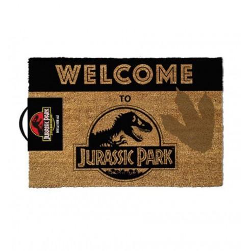 Felpudo Fibra Coco Welcome To Jurassic Park 40 x 60 cm.