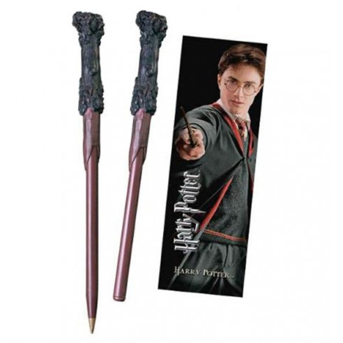 Varita Bolígrafo y Marcapáginas Harry Potter