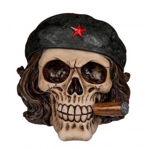 Hucha Calavera Libertador con Cigarro
