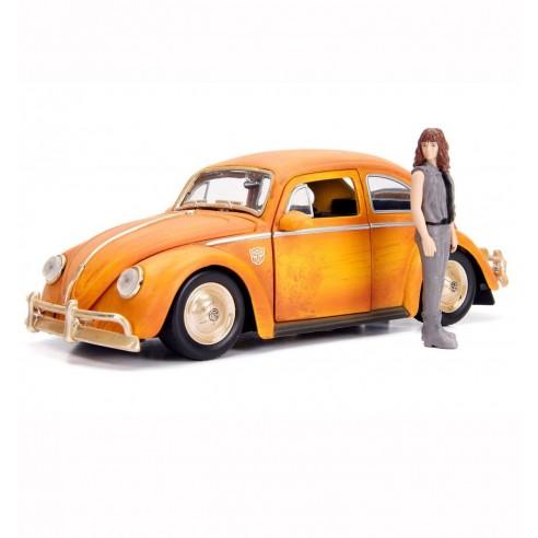 Coche Transformers Bumblebee 1/24 Volkswagen Beetle con Figura