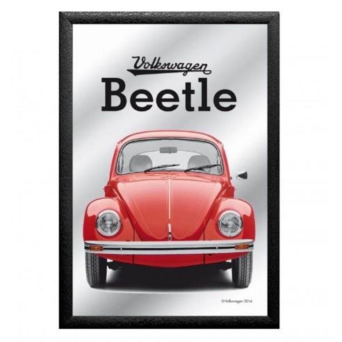 Cuadro Espejo Volkswagen Beetle Rojo