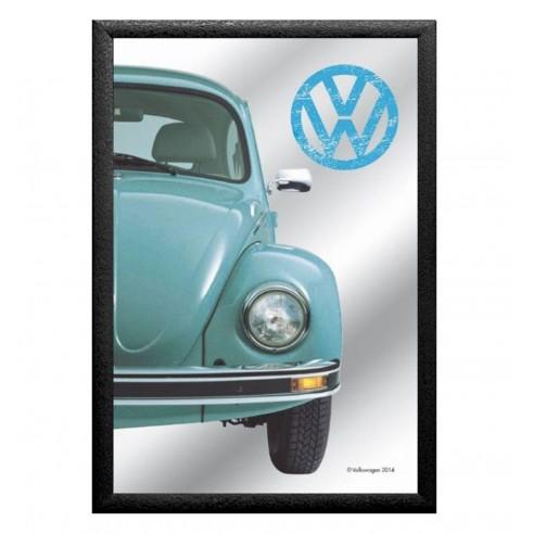 Cuadro Espejo Volkswagen Beetle Azul