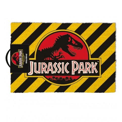 Felpudo Jurassic Park Warning