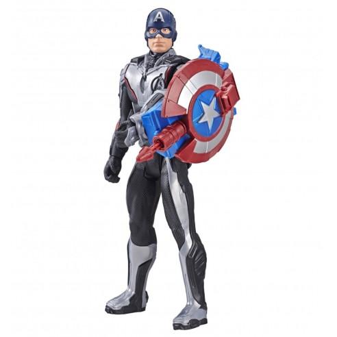 Figura Capitán América Avengers - Titan Hero FX (Hasbro E3301105)