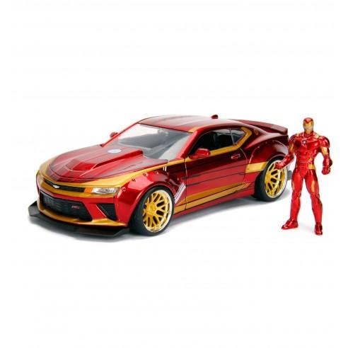 Vehículo Iron Man & 2016 Chevrolet Camaro Escala 1:24