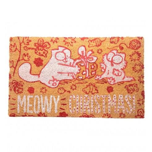 Felpudo de Fibra de Coco Navidad Gato Simon's Cat