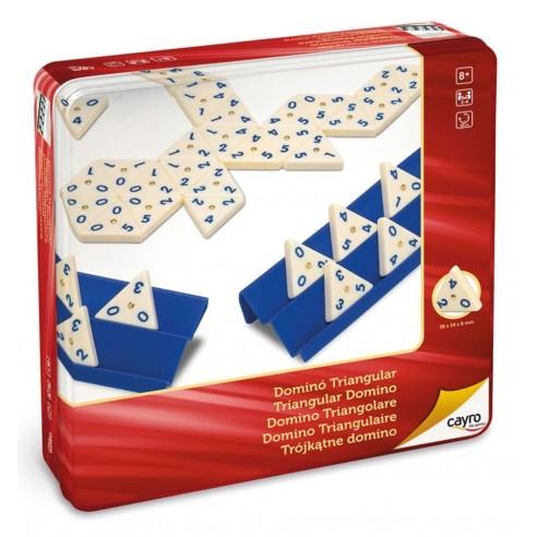 Juego Dominó Triangular en Caja Metálica