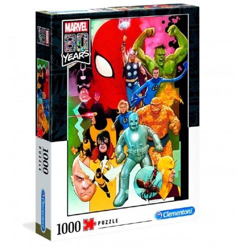 Puzzle Marvel 80 Aniversario 1.000 piezas