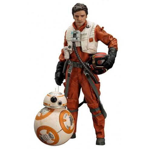 Star Wars Episodio VII Pack de 2 Estatuas 1/10 Poe Dameron y BB-8