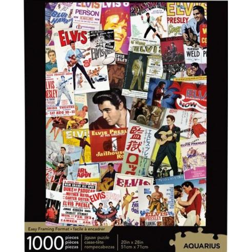 Puzzle Elvis Presley Collage Posters Películas 1.000 piezas