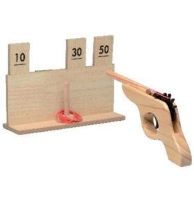 juego shooter pistola madera