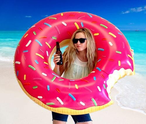 flotador gigante donut rosa