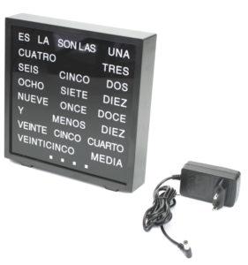 Reloj alfabético español similar qlocktwo