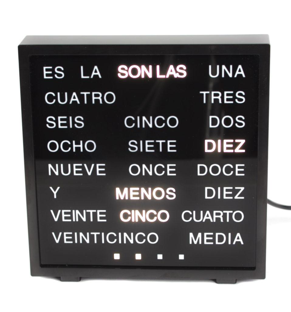 Reloj alfabético español