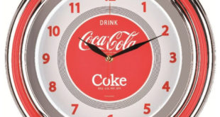 Reloj pared neón Coca Cola
