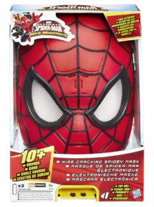 máscara electronica spiderman caja