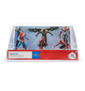 caja set figuras spiderman homecoming caja