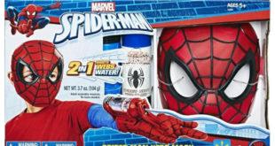 spiderman máscara y lanzador de redes caja