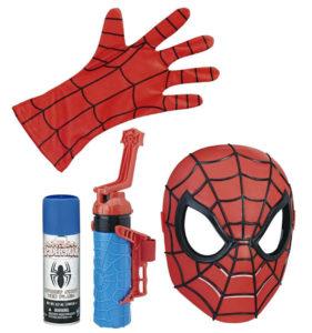 spiderman máscara y lanzador de redes