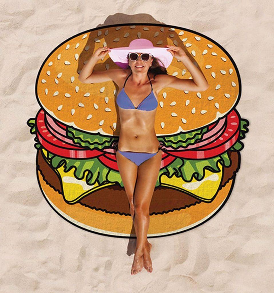 toalla gigante hamburguesa chica