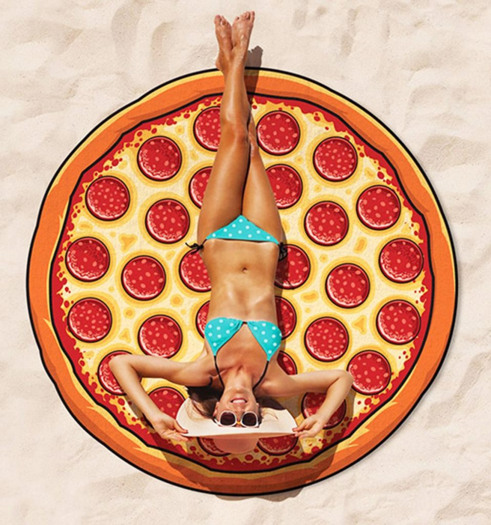 toalla gigante pizza chica