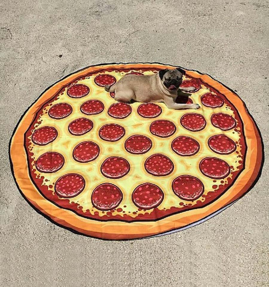 toalla gigante pizza perro