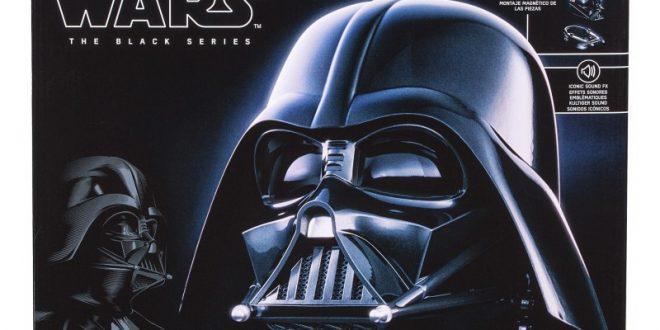 casco electrónico darth vader black series