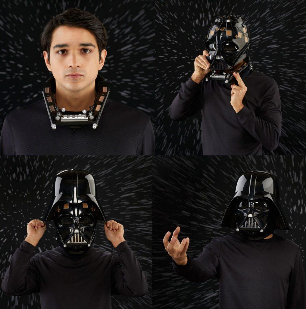 casco electronico darth vader black series montaje